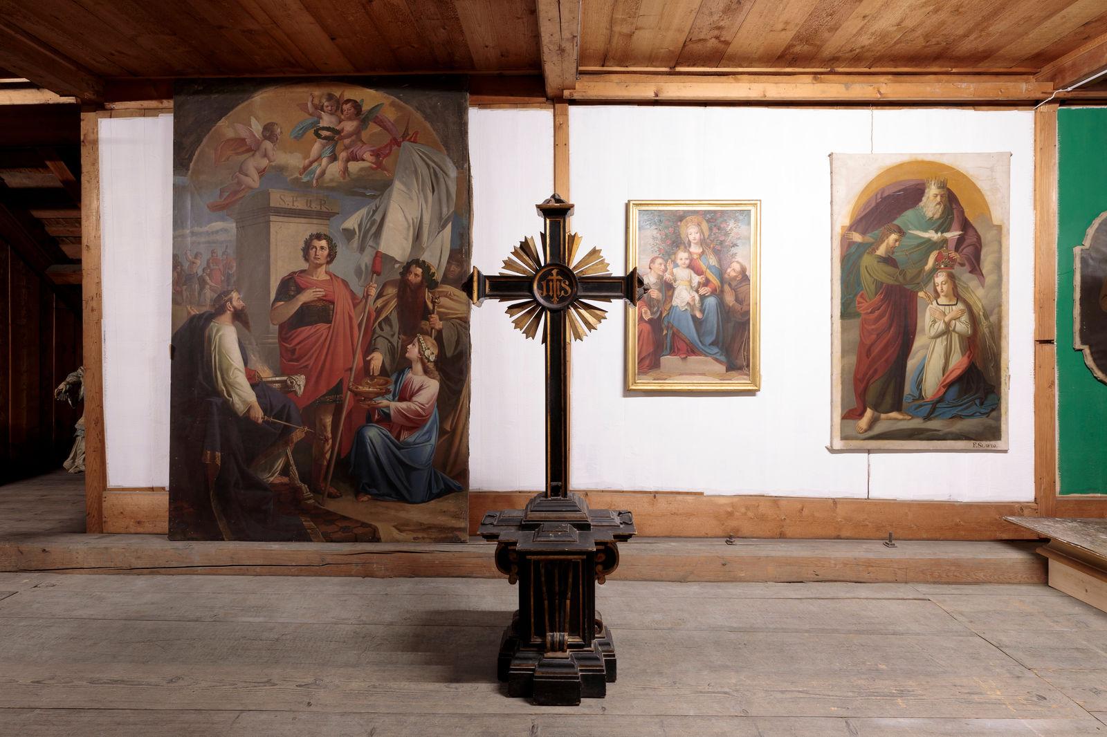 Ehemaliges Altarbild (1871 bis 1970) von Josef Balmer, Fotografie: Hannes Thalmann