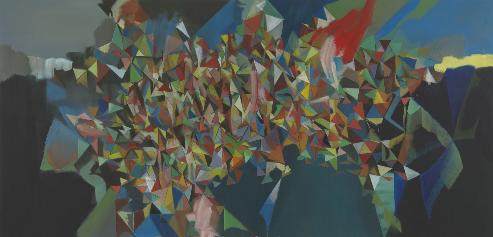 Umbrechend / 140 x 290cm / Öl auf Leinwand / 2012