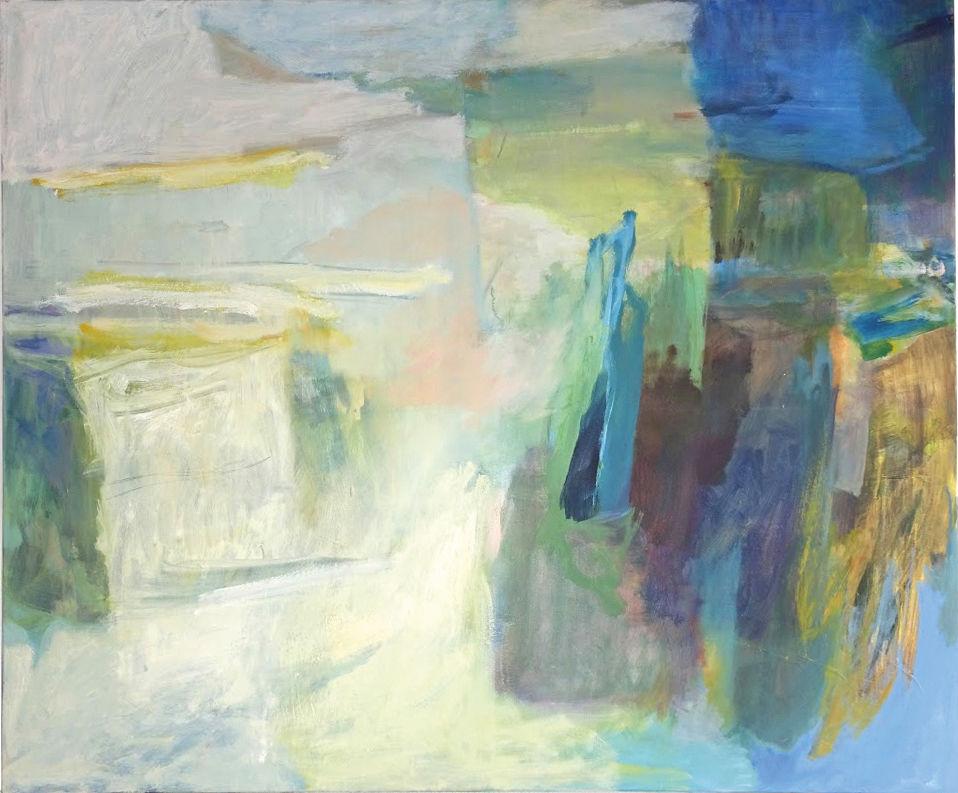 """Schwemmland"", 2015. Acryl/Öl auf Leinwand, 100 x 120 cm"
