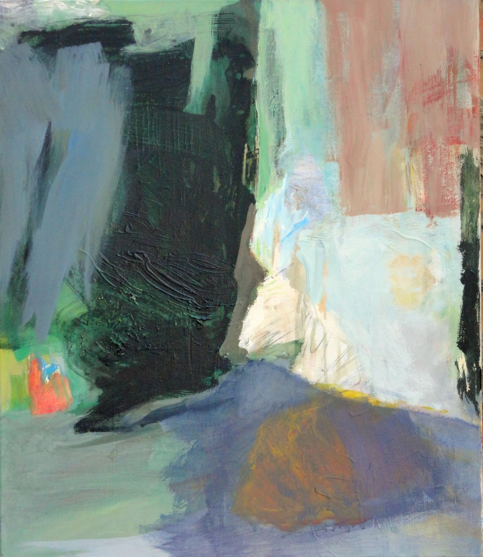 """Atemwende"", 2015. Acryl auf Leinwand, 70 x 60 cm"