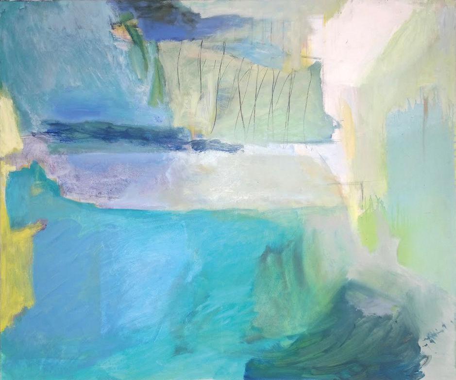 """Nach der Sintflut"", 2015. Acryl / Öl auf Leinwand, 120 x 100 cm"