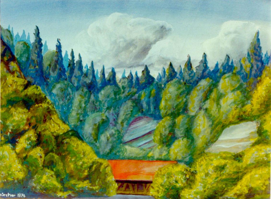 Urnäsch und Sitter Holzbrücke