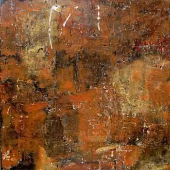 ohne Titel Quarzstaub auf Leinwand 130 x 120 cm