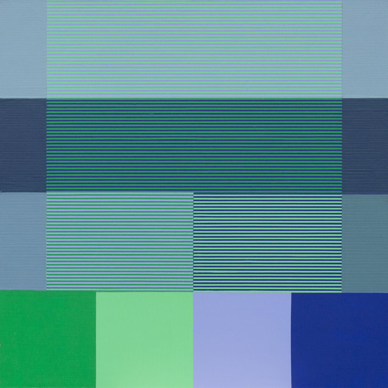 Optische Mischung Blau