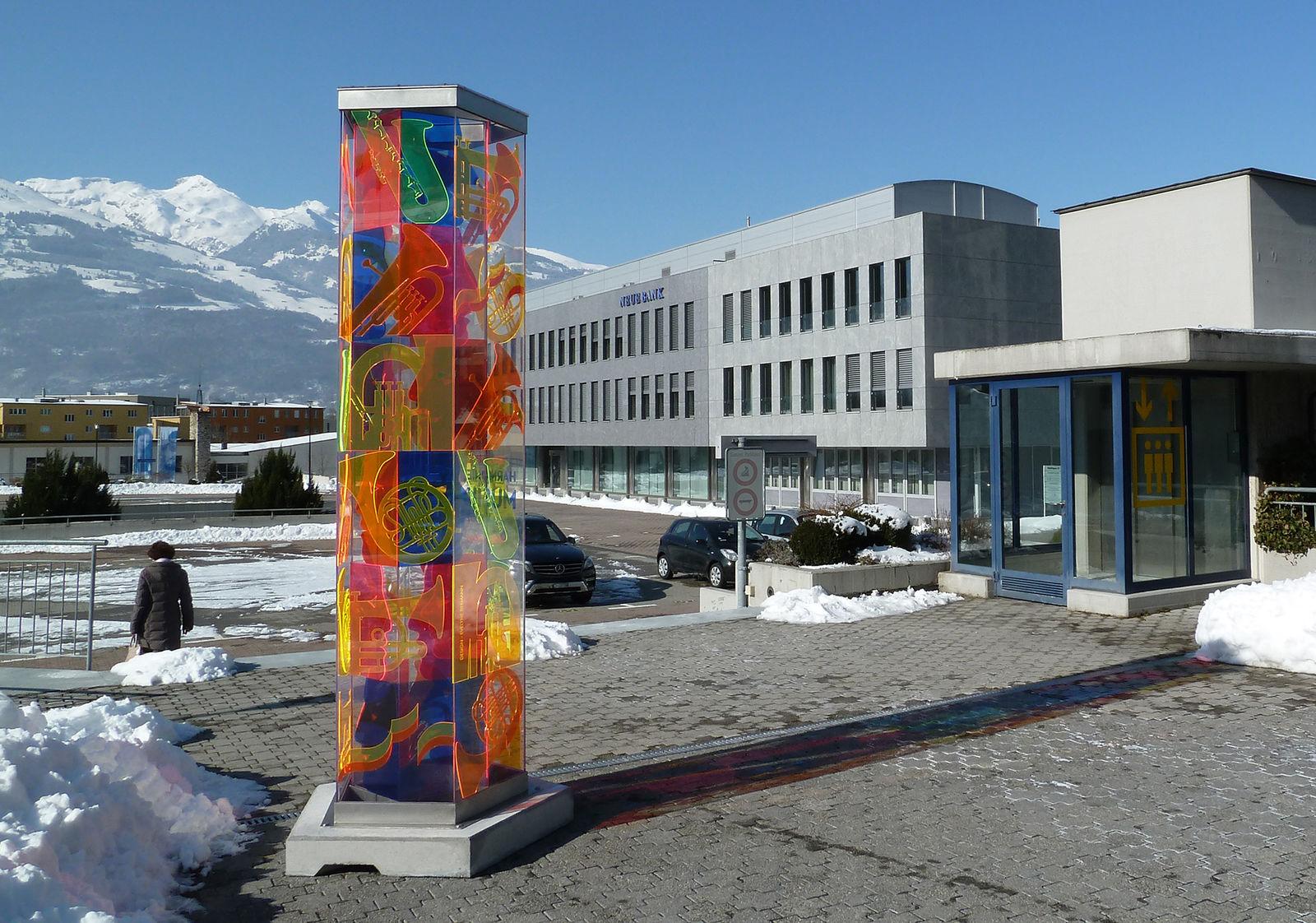 Skulptur, Jubiläum Harmoniemusik Vaduz