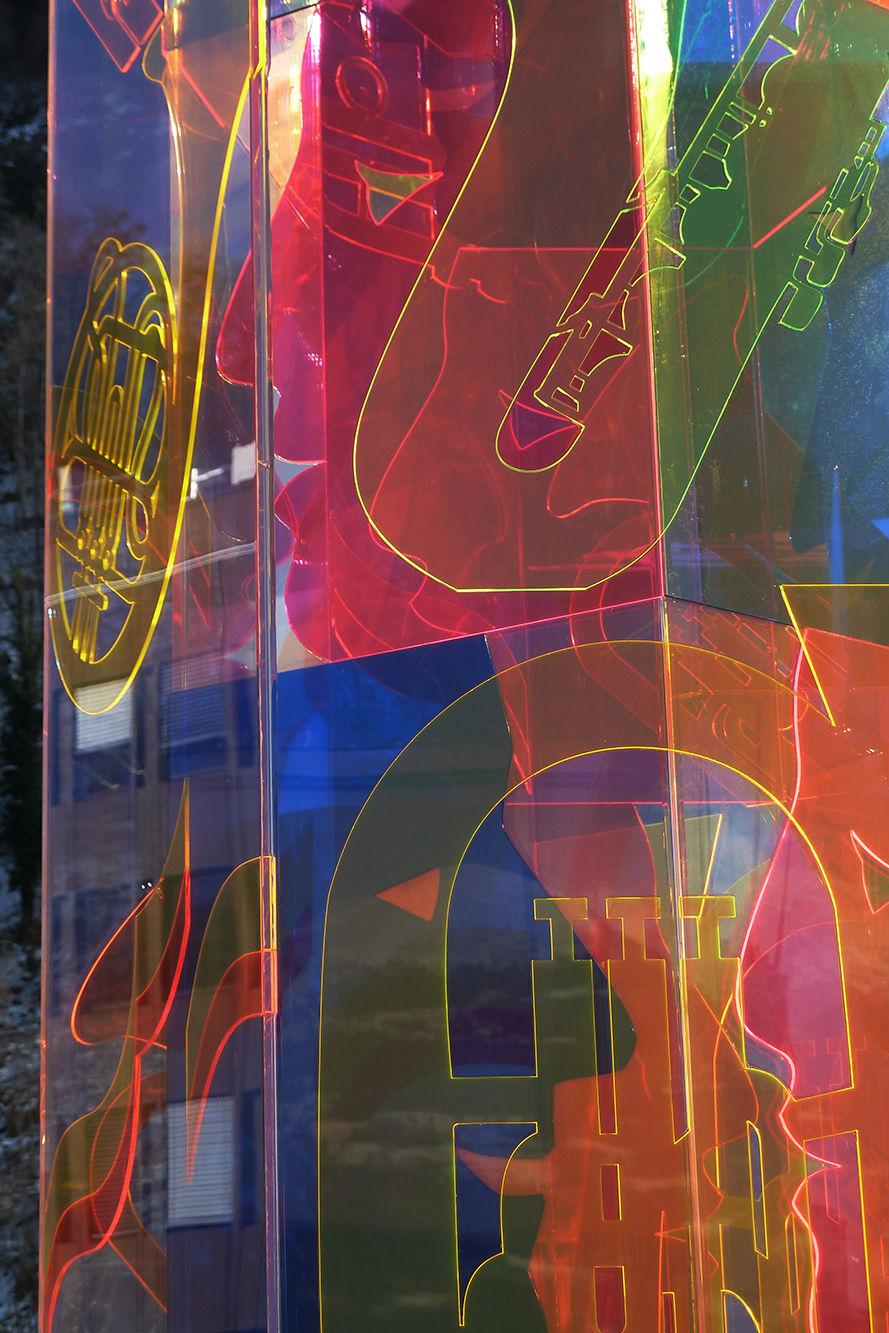 Skulptur, Jubiläum Harmoniemusik Vaduz, Close-up 2