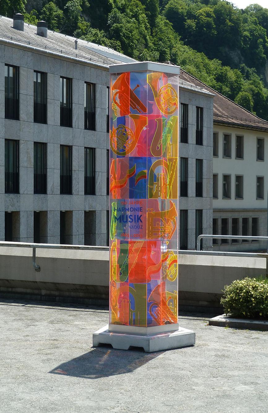 Skulptur, Jubiläum Harmoniemusik Vaduz, Acrylglas