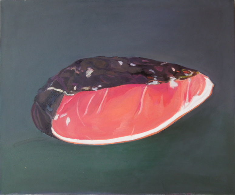 Schinken, 2014, Oel a/LW, 50x60 cm