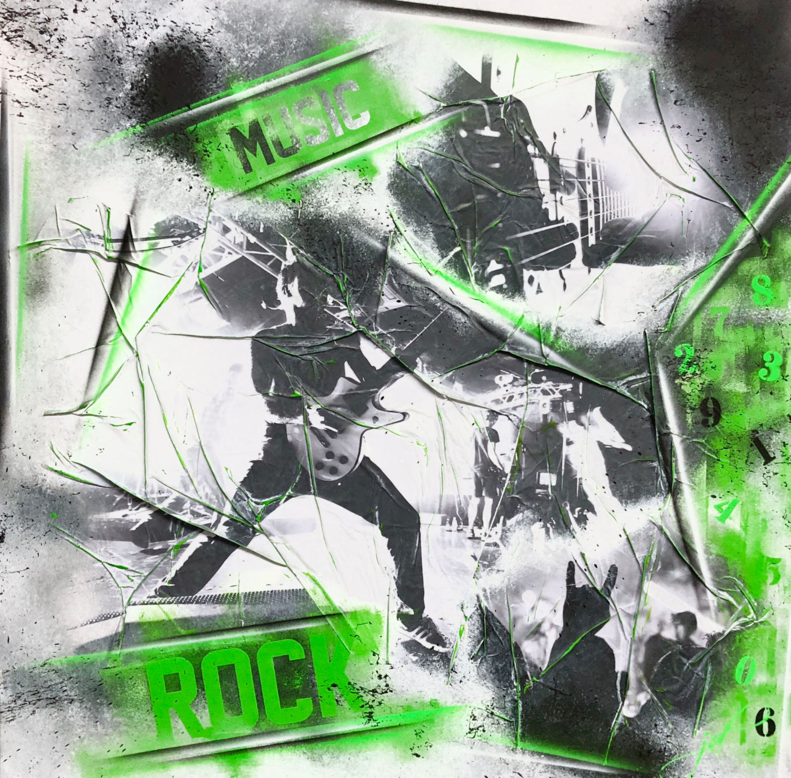 Music-Rock-black-green