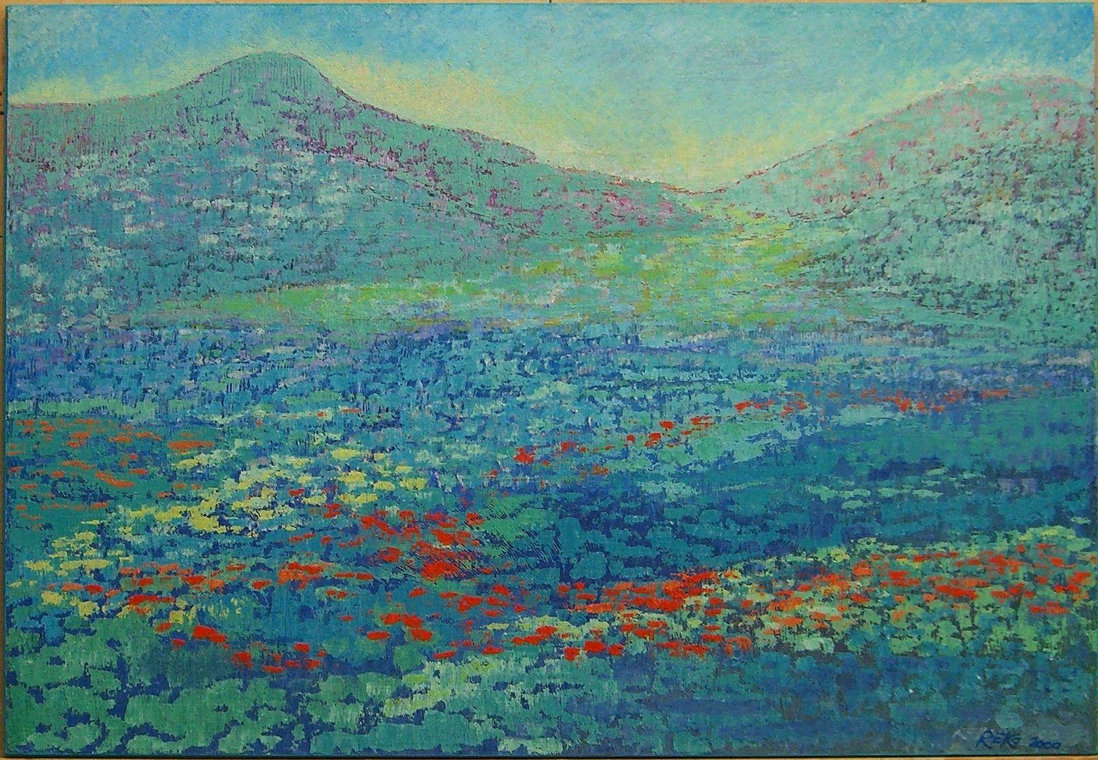 Virgin Natur, 2000, Ako-Spachtel, 44x64 cm