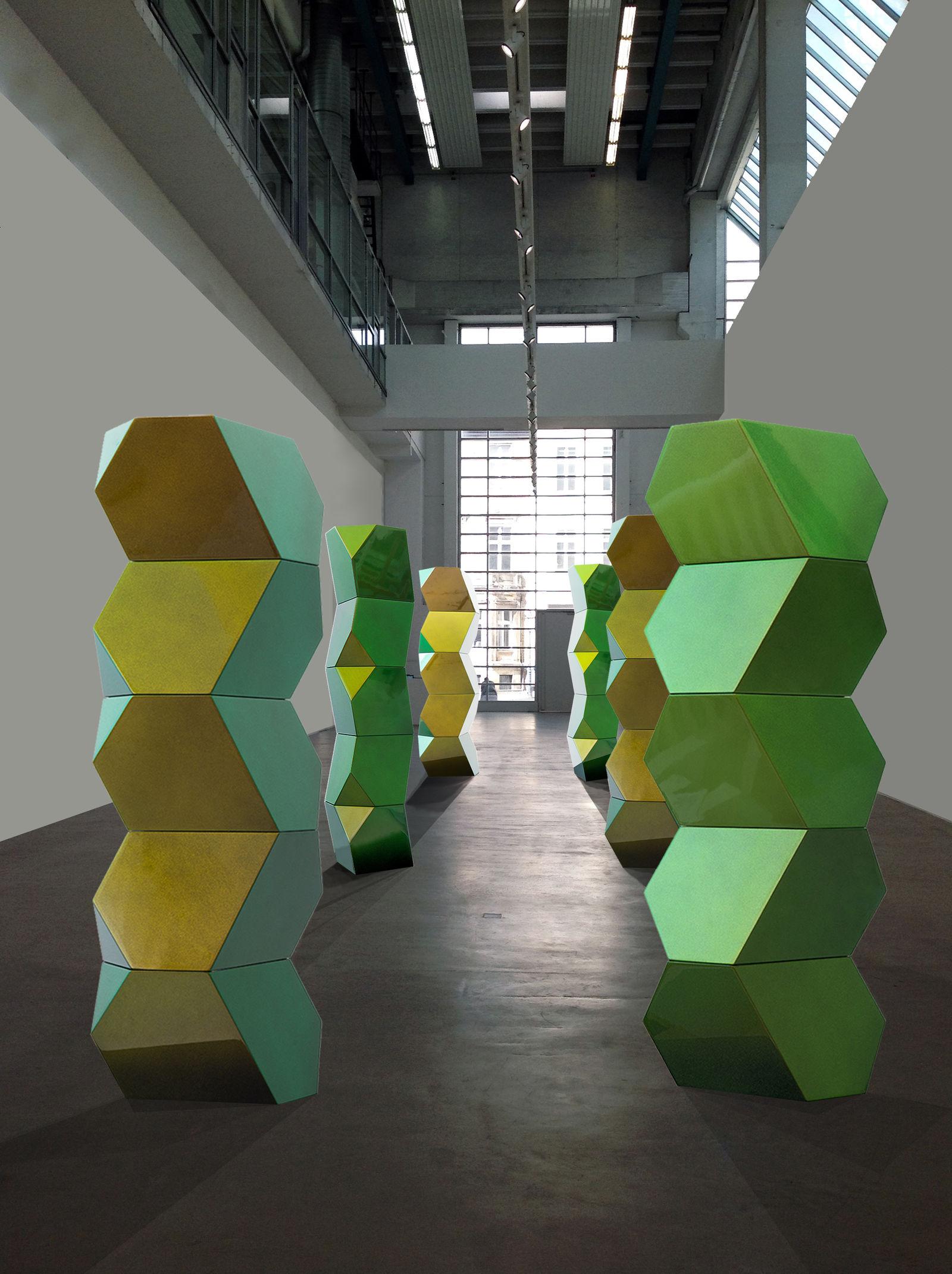 Stele, Gemini Green, 170 x 50 x 45 cm